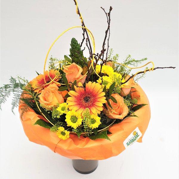 Blumenstrauß gelb/orange/grün Bild 2