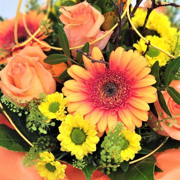 Blumenstrauß gelb/orange/grün Bild 3