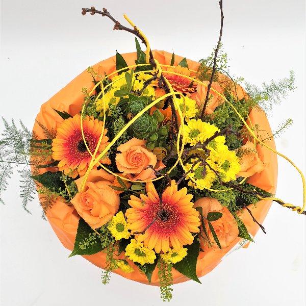Blumenstrauß gelb/orange/grün Bild 4