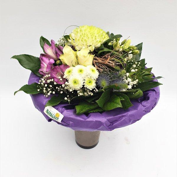Blumenstrauß Ton- in- Ton lila/weiß Bild 2