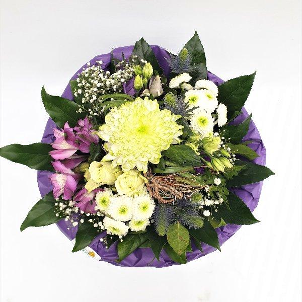 Blumenstrauß Ton- in- Ton lila/weiß Bild 4