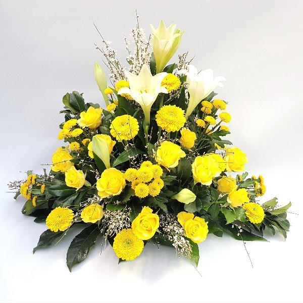 Gesteck in gelb Bild 1