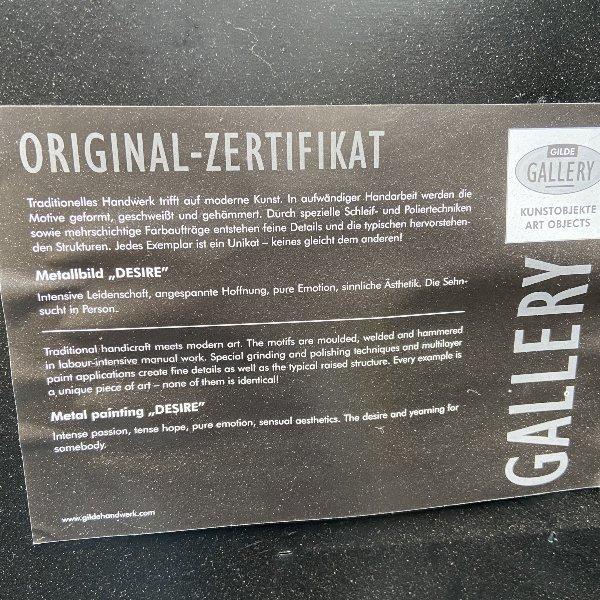 Metall Bild Frau 90 x 60 cm Bild 2