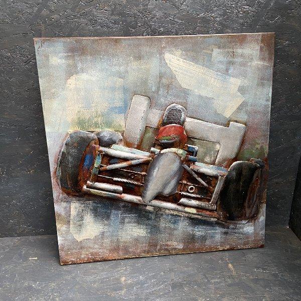 Metall Bild Motorrad 60x60 cm Bild 2