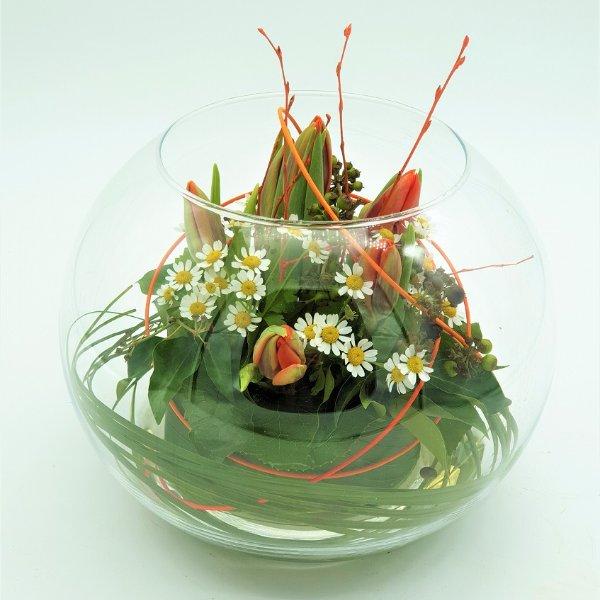 Frühlingsschale mit Tulpen Bild 2