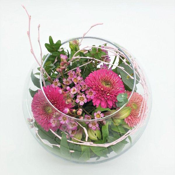 Glasschale rund in rosa/pink Bild 2