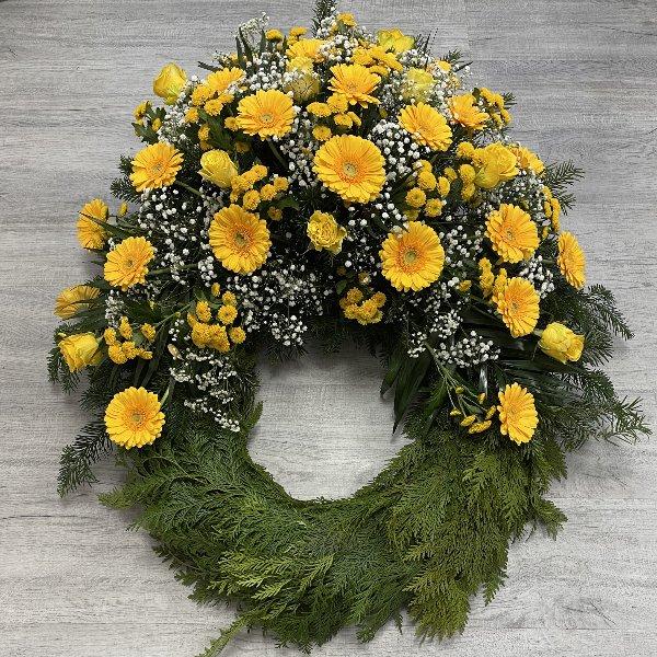 Trauerkranz gelb-weiß Bild 3