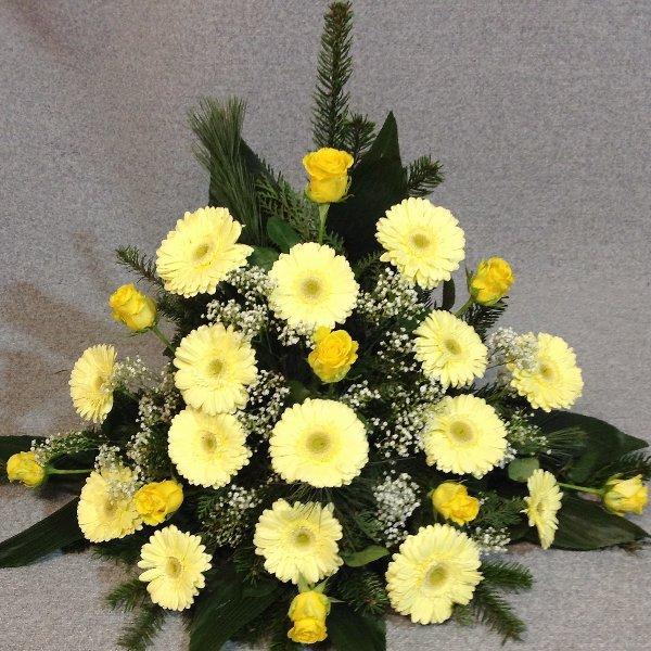 Trauergesteck, Gelben Töne Bild 2