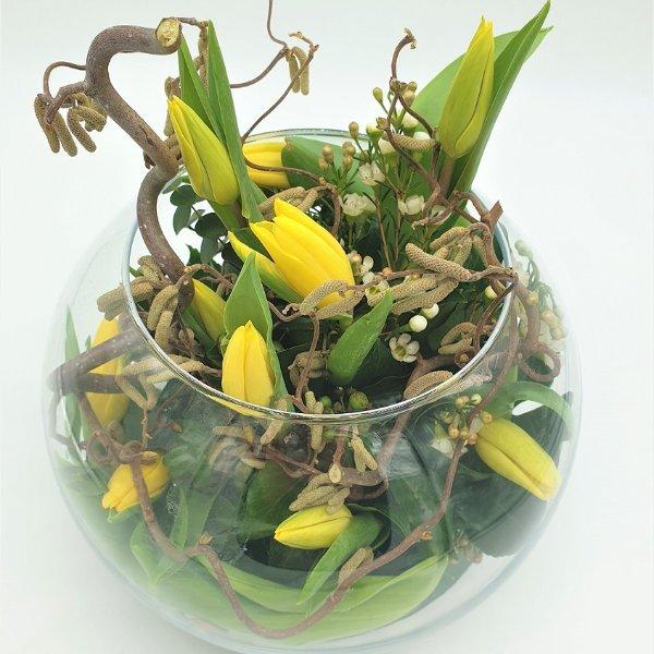 Glasschale rund in gelb Bild 1