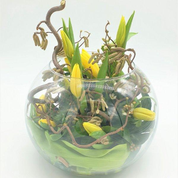 Glasschale rund in gelb Bild 2