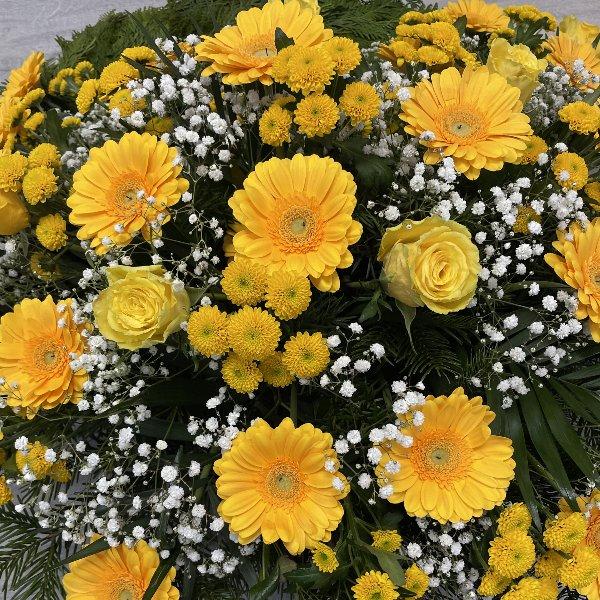 Trauerkranz gelb-weiß Bild 2