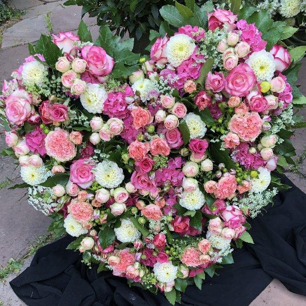 Blütenherz pink Bild 1