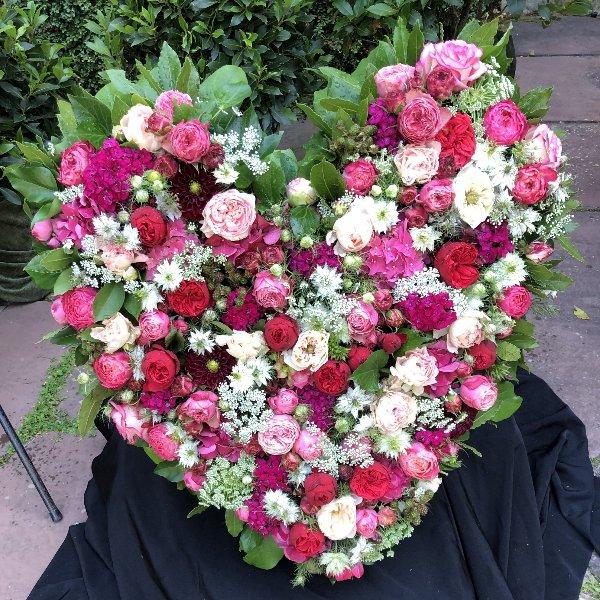 Blütenherz pink/rosa Bild 1