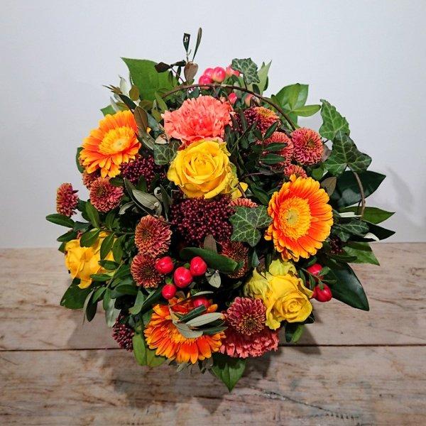 Blumenstrauß orange-gelb Bild 1