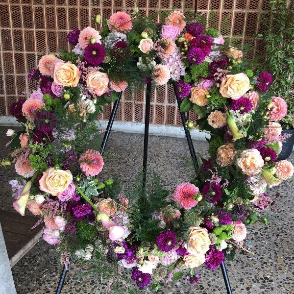 Blütenkranz rosa/pink Bild 1