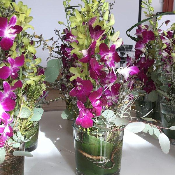 Tischgesteck pink Orchidee Bild 1