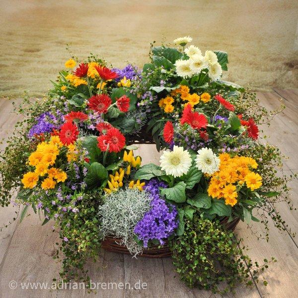 gepflanzter Trauerkranz Bild 1