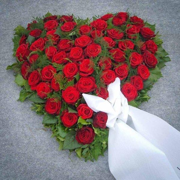 Rote Rosen-Herz Bild 1