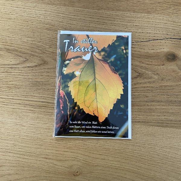 """Trauerkarte """"In stiller Trauer"""" Bild 1"""