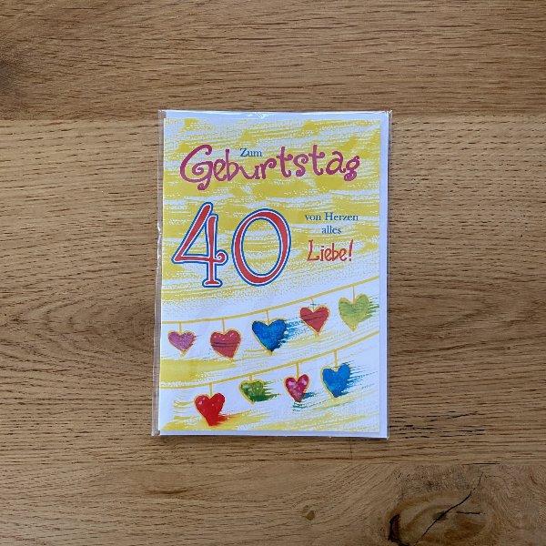 Karte zum 40. Geburtstag Bild 2