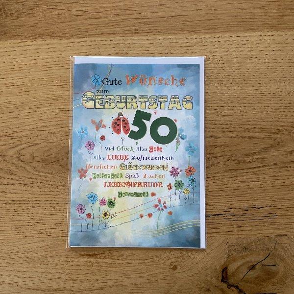 Karte zum 50. Geburtstag Bild 2