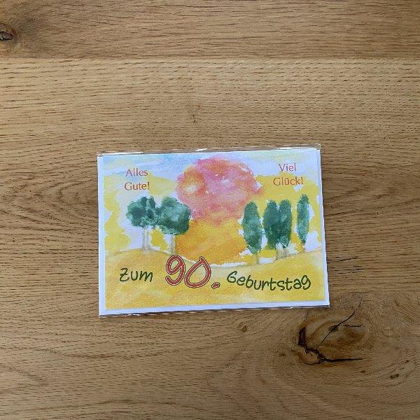 Karte zum 90. Geburtstag Bild 1