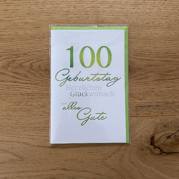 Karte zum 100. Geburtstag Bild 1