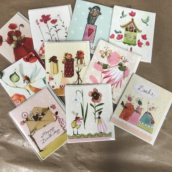 Kartenpaket Miniklappkarte mit Umschlag Bild 1