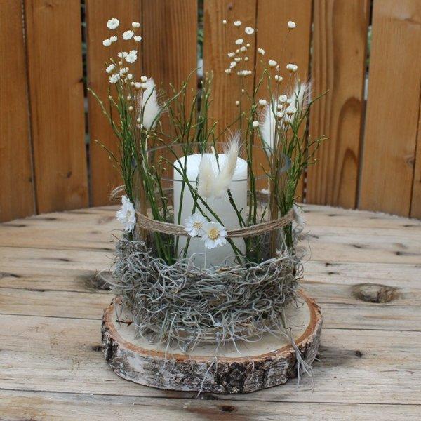 Windlicht Blumenwiese Bild 1