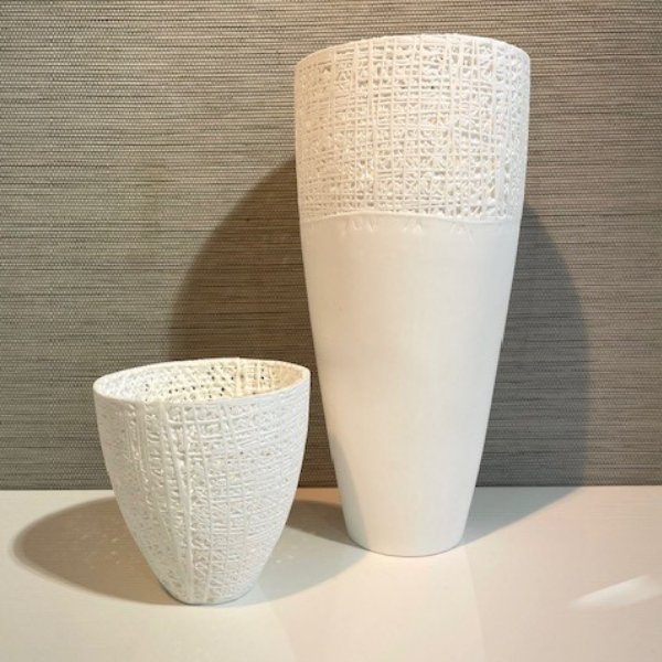Knochenporzellan Vase Bild 1