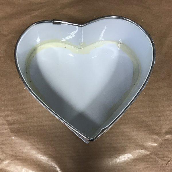 Herz metall weiß Bild 1