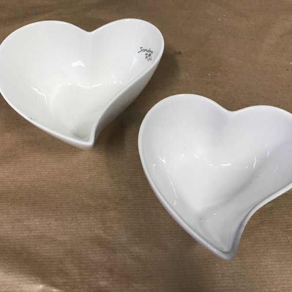 Keramikherz weiß Bild 1