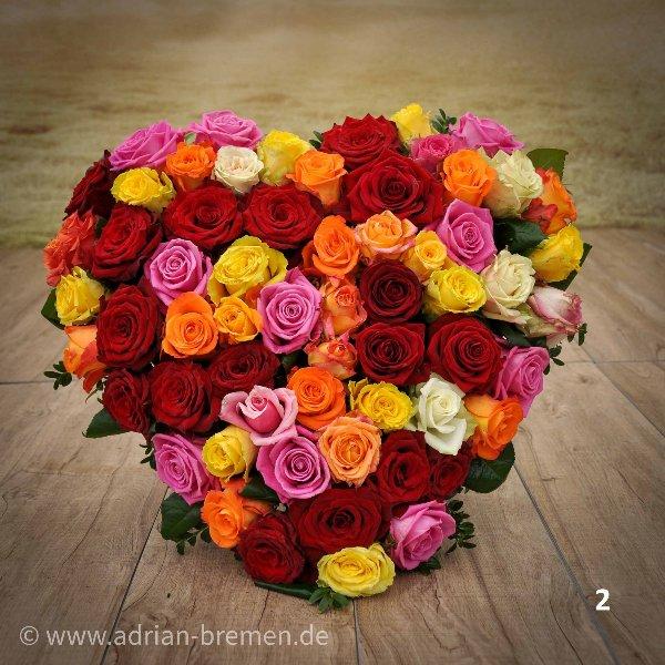 Herz mit bunten Rosen Bild 2