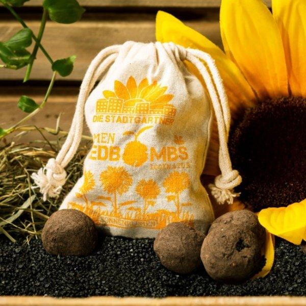 Jutebeutel Sonnenblumen Bild 1