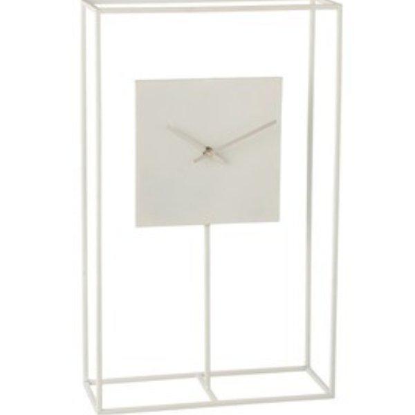 Uhr Rahm Minimalistisch Metall Weiß Bild 1