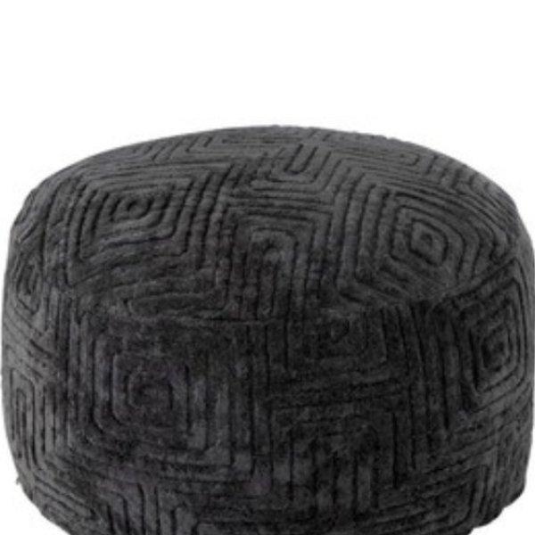 Hocker Labyrinth Viskose Dunkel Grau Bild 1