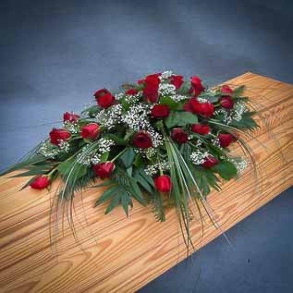 Sarggesteck,  Rote Rosen Bild 1