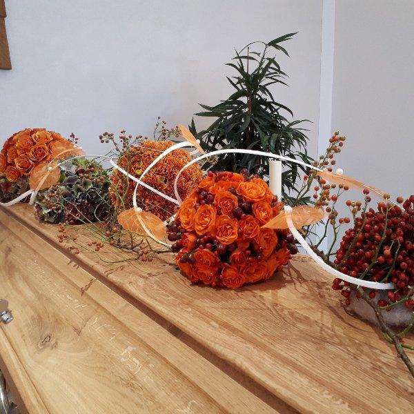 "Florale Lebenskugeln ""Abendstimmung"" Bild 1"