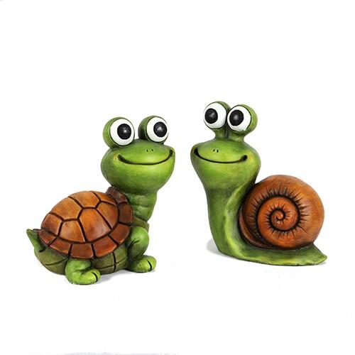 """Figur Magnesia Schildkröte """"funny smile"""" Bild 1"""