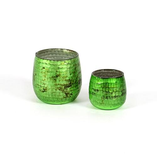 """Windlicht""""Schliff""""Glas mit Schliff,grün Bild 1"""