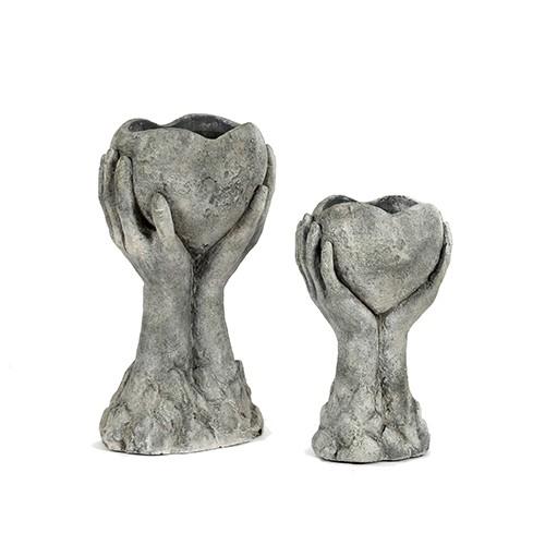 """Herz""""Pompejii""""Zement, dk.grau Bild 1"""