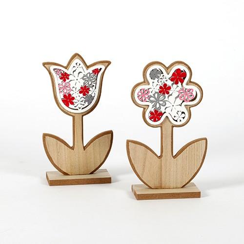 """Standdeko""""Blume""""Holz Bild 1"""