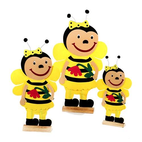 "Biene ""Lara"" auf Holzbase,Filz, Bild 1"