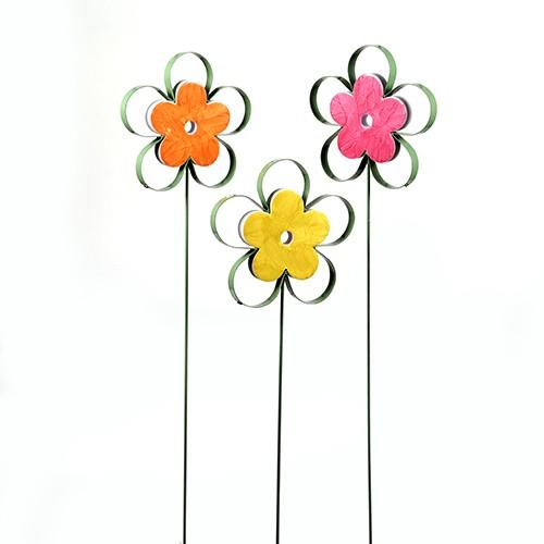 """Gartenstecker""""Blume""""Metall mit Kunststoff Bild 1"""