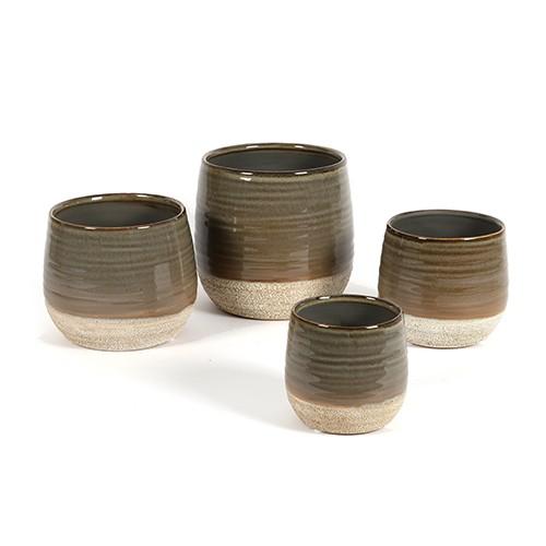 "Keramik Topf  ""Marlon"" bauchig Bild 1"