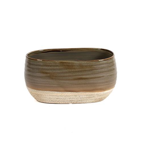 "Keramik Jardiniere ""Marlon"" oval Bild 1"