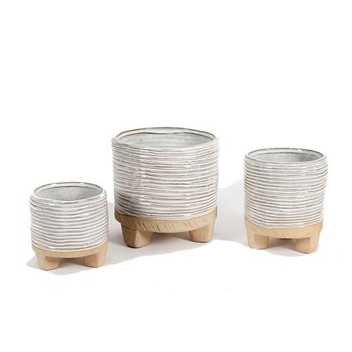 Zylinder-Topf aus Steinzeug, rustikal Bild 1