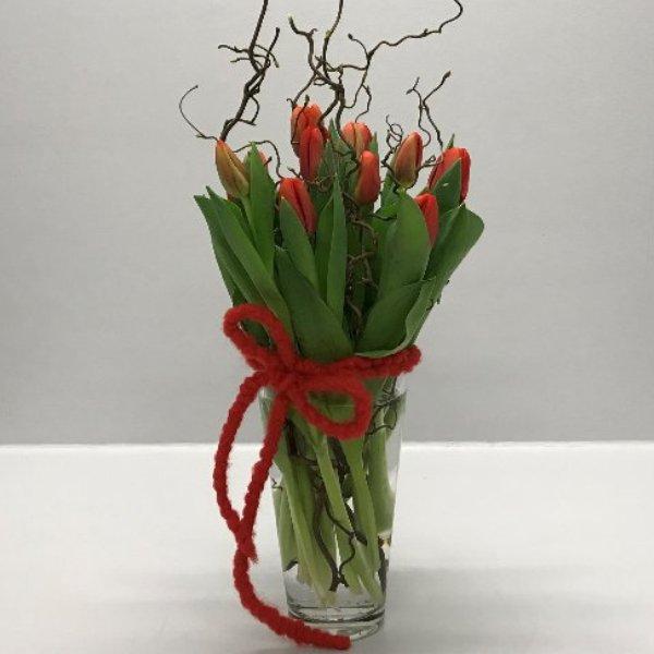 Tulpen im Glas in versch. Farben Bild 1