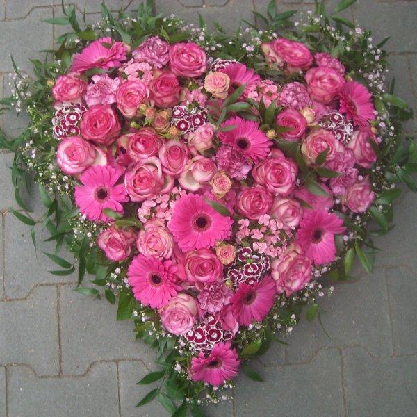 Herz in rosa / pink Bild 1