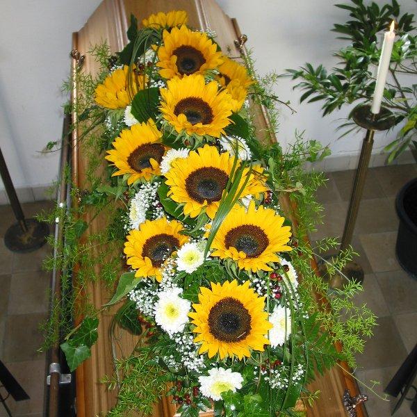 "Sargschmuck Vries ""Sonnenblumenidyll"" Bild 1"